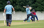 Cricket Scotland - T20 Blitz - Western Warriors Richie Berrington hits out to the boundary, here in partnership with Michael English- picture by Donald MacLeod - 03.09.08.2017 - 07702 319 738 - clanmacleod@btinternet.com - www.donald-macleod.com