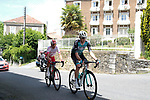 Pierre Rolland (FRA) Vital Concept-B&B Hotels and Stephane Rossetto (FRA) Cofidis in the 2 man French escape group right until the Port de Bales during Stage 3 of the Route d'Occitanie 2019, running 173km from Arreau to Luchon-Hospice de France, France. 22nd June 2019<br /> Picture: Colin Flockton | Cyclefile<br /> All photos usage must carry mandatory copyright credit (© Cyclefile | Colin Flockton)