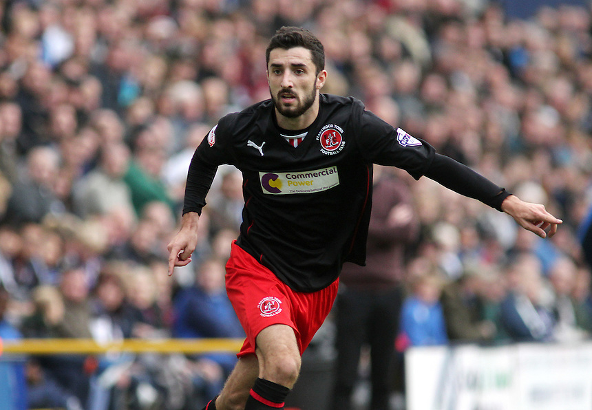 Fleetwood Town's Conor McLaughlin<br /> <br /> Photographer Rich Linley/CameraSport<br /> <br /> Football - The Football League Sky Bet League One - Preston North End v Fleetwood Town - Saturday 25th October 2014 - Deepdale - Preston<br /> <br /> &copy; CameraSport - 43 Linden Ave. Countesthorpe. Leicester. England. LE8 5PG - Tel: +44 (0) 116 277 4147 - admin@camerasport.com - www.camerasport.com