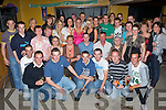 7054-7057.Party - Owen Dunne from Ardfert, who's off to Australia soon, seated centre, having a ball with family and friends at his 21st birthday party held in McElligot's Bar, Ardfert on Friday night..   Copyright Kerry's Eye 2008