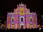 €Projection mapping show on the snow sculpture of 'The Ruins of St. Paul's, Macau' during the 67th Sapporo Snow Festival at Odori Park in Sapporo, Hokkaido, Japan on Februrary 5, 2016. (Photo by AFLO)