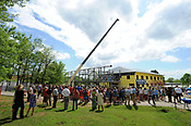 The New School beam raising and tour 4/19/2017