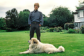 Jun 10, 1985: THE POLICE - Stewart Copeland - Photosession at Home in Buckinghamshire UK