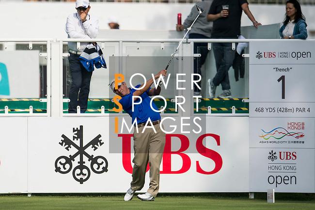 Adilson Da Silva of Brazil tees off the first hole during the 58th UBS Hong Kong Golf Open as part of the European Tour on 08 December 2016, at the Hong Kong Golf Club, Fanling, Hong Kong, China. Photo by Marcio Rodrigo Machado / Power Sport Images
