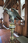 Brass eagle lectern, Church of Saint Bartholomew, Orford, Suffolk, Suffolk, England, UK