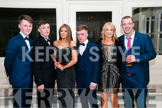 North Kerry Harriers Ball: attending the North Kerry Harriers Hunt Ball at the Listowel Arms Hotel on Saturday night last were Jack Brennan, John Mulvihill, Katie Hand, Tom Kelliher & Shelia & Simon Russell.