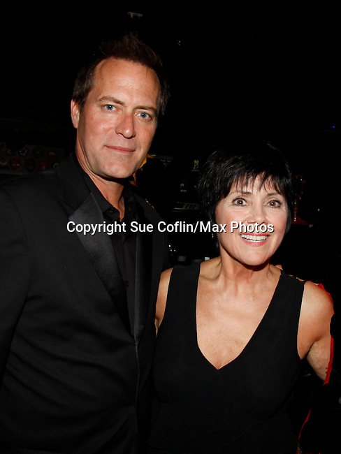 """Actress Joyce DeWitt (Threes Company)poses with Robert and MandyThe film """"Price for Freedom"""" worldwide premiere starring  Robert Bogue (GL) shown on this night  - 10th Anniversary of the Hoboken International Film Festival on May 29, 2015 at the Paramount Theatre, Middletown, NY - runs through June 4. (Photos by Sue Coflin/Max Photos)"""