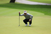 Soren Kjeldsen (DEN) on the 1st green during Saturday's rain delayed Round 2 of the Andalucia Valderrama Masters 2018 hosted by the Sergio Foundation, held at Real Golf de Valderrama, Sotogrande, San Roque, Spain. 20th October 2018.<br /> Picture: Eoin Clarke | Golffile<br /> <br /> <br /> All photos usage must carry mandatory copyright credit (&copy; Golffile | Eoin Clarke)