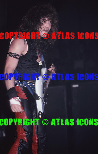 Guitarist Jake E Lee of Ozzy Osbourne at New Haven Coliseum, Ct, Jan !984