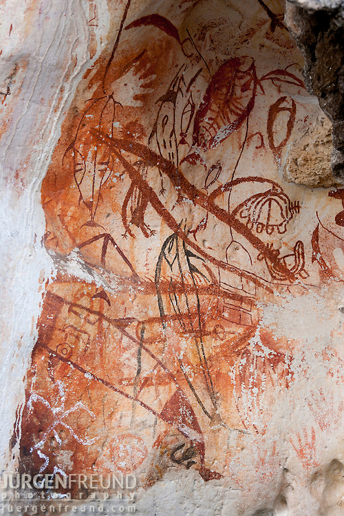 Sunmalelen area with stunning karst limestone formations and ancient petroglyphs.