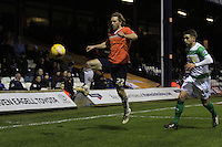 Craig MacKail-Smith controls the ball during the Sky Bet League 2 match between Luton Town and Yeovil Town at Kenilworth Road, Luton, England on 2 February 2016. Photo by Liam Smith.