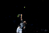 17th November 2019; 02 Arena. London, England; Nitto ATP Tennis Finals; Stefanos Tsitsipas (Greece) serves to Dominic Thiem (Austria) during the mens singles final - Editorial Use