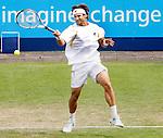 Nederland, Rosmalen, 23 juni 2012.Seizoen 2011/2012.Tennis Unicef open 2012.David Ferrer uit Spanje in actie met de bal