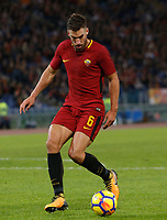 Roma's Roma&rsquo;s Kevin Strootman in action during the Serie A football match between Roma and Bologna at Rome's Olympic stadium, October 28, 2017.<br /> UPDATE IMAGES PRESS/Riccardo De Luca