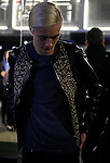 Lucky Blue Smith arrives at the entrance of the Fendi fashion show as part of the Milan Fashion Week Men's wear Fall/Winter 2015/2016, in Milan on January 19, 2015. <br /> <br /> Photo: Pierre TEYSSOT