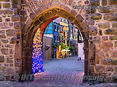 Tom Mackie, LANDSCAPES, LANDSCHAFTEN, PAISAJES, photos,+Alsace, EU, Europa, Europe, European, France, Riquewihr, Tom Mackie, ancient, arch, archway, blue, blue hour, cobble, cobbles+tone, color, colorful, colour, colourful, french, heritage, historic, history, holiday, holiday destination, horizontally, ho+rizontals, medieval, nightscene, stone wall, stonewall, time of day, tourism, tourist attraction, travel, twilight, vacation,+walls,Alsace, EU, Europa, Europe, European, France, Riquewihr, Tom Mackie, ancient, arch, archway, blue, blue hour, cobble,+,GBTM160284-1,#L#