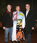 AEA's Ira Mont, Jennifer Allen and AEA's Thomas Carpenter  during the Actor's Equity Opening Night Gypsy Robe Ceremony honoring Jennifer Allen for 'The Bridges of Madison County'  at the Gerald Schoenfeld Theatre on February 20, 2014 in New York City.