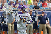Albany goalkeeper Nate Siekierski (#6) initiates a clear as Yale defeats UAlbany 20-11 in the NCAAA semifinal game at Gillette Stadium, May 26.