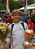 12-8-06,Den Haag, Tennis Nationale Jeugdkampioenschappen, winnaar jongens 14 jaar Justin Eleveld