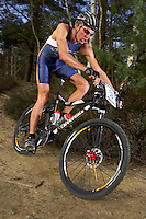 Sam Gardner.Xterra race action .Virginia Water, Surrey .February 2007.pic copyright Steve Behr / Stockfile