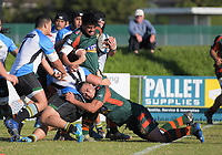 Action from the Auckland Premier club rugby Alan McEvoy Trophy match between Pakuranga and Grammar TEC at Bell Park in Auckland, New Zealand on Saturday, 9 June 2018. Photo: Dave Lintott / lintottphoto.co.nz