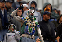 Oct 23, 2005; Seattle, Wash, USA; A Seattle fan cheers on the Seattle Seahawks during their game against the Dallas Cowboys at Qwest Field. Mandatory Credit: Photo By Mark J. Rebilas