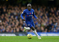 9th November 2019; Stamford Bridge, London, England; English Premier League Football, Chelsea versus Crystal Palace; Ngolo Kante of Chelsea - Strictly Editorial Use Only. No use with unauthorized audio, video, data, fixture lists, club/league logos or 'live' services. Online in-match use limited to 120 images, no video emulation. No use in betting, games or single club/league/player publications