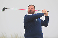 Cian Dullaghan (Greenore) on the 1st tee during Round 1 - Matchplay of the North of Ireland Championship at Royal Portrush Golf Club, Portrush, Co. Antrim on Wednesday 11th July 2018.<br /> Picture:  Thos Caffrey / Golffile