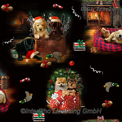 GIORDANO, GIFT WRAPS, GESCHENKPAPIER, PAPEL DE REGALO, Christmas Santa, Snowman, Weihnachtsmänner, Schneemänner, Papá Noel, muñecos de nieve, paintings+++++Fireside Pups Scenic Revised,USGIPROV20,#gp#,#x# ,dog,dogs