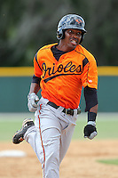 Baltimore Orioles second baseman Mychal Givens #16 during an Instructional League game against the Boston Red Sox at Buck O'Neil Complex on October 6, 2011 in Sarasota, Florida.  (Mike Janes/Four Seam Images)