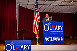 WATERBURY, CT. 18 July 2019-071819 - Waterbury Mayor Neil O'Leary gives his acceptance speech after being nominated for mayor again, during the Waterbury Democratic Town Committee meeting of picking its slate of candidates for this years elections at the Waterbury Portuguese Sport Club in Waterbury on Thursday. Bill Shettle Republican-American