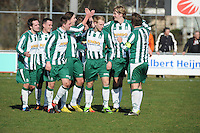 VOETBAL: JOURE: Sportpark Hege Simmerdyk, 09-03-2013, Hoofdklasse Zondag, SC Joure - FVC, Eindstand 5-2, ©foto Martin de Jong