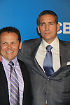 Person of Interest's Kevin Chapman & Jim Caviezel - CBS Upfront 2012 at the Tent in Lincoln Center, New York City, New York. (Photo by Sue Coflin/Max Photos)