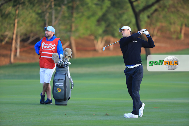 Martin Kaymer (GER) on the 1st during the 1st round of the Abu Dhabi HSBC Championship, Abu Dhabi Golf Club, Abu Dhabi,  United Arab Emirates. 19/01/2017<br /> Picture: Golffile | Fran Caffrey<br /> <br /> <br /> All photo usage must carry mandatory copyright credit (&copy; Golffile | Fran Caffrey)