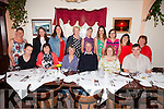 At the KDYS South West Kerry Mini Region end of year celebration in the Thatch Cottage Restaurant Strands End, Cahersiveen on Saturday night were front l-r; Fiona Cronin(Foilmore/Kells YC), Lavinia Cunningham(Caherdaniel YC), Pádraig Murphy(Cahersiveen YC), Marion O'Neill(Waterville YC), Thomas Hurley(Cahersiveen YC), back l-r; Catherine Fayen(Caherdaniel YC), Caroline Heffernan(Valentia/Portmagee YC), Lucy Curran(Waterville YC), Breda O'Sullivan(Caherdaniel YC), Teresa Brennan(Cahersiveen YC), Lorraine Casey(Portmagee/Valentia YC), Anne Murphy KDYS, Eileen McGillicuddy(Waterville YC) & Joan Orme(Cahersiveen YC).  After many years of service members in the front seated are handing over to new volunteers, anyone interested in volunteering with the KDYS Youth Clubs in SW Kerry should contact Kathleen Higgins on 085 8704468.
