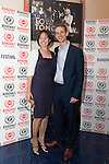 "Stephanie Moon, producer and Christopher Payne, writer and director attend the world premiere of their film ""Love Tomorrow"" at the 29th Raindance Film Festival, London"