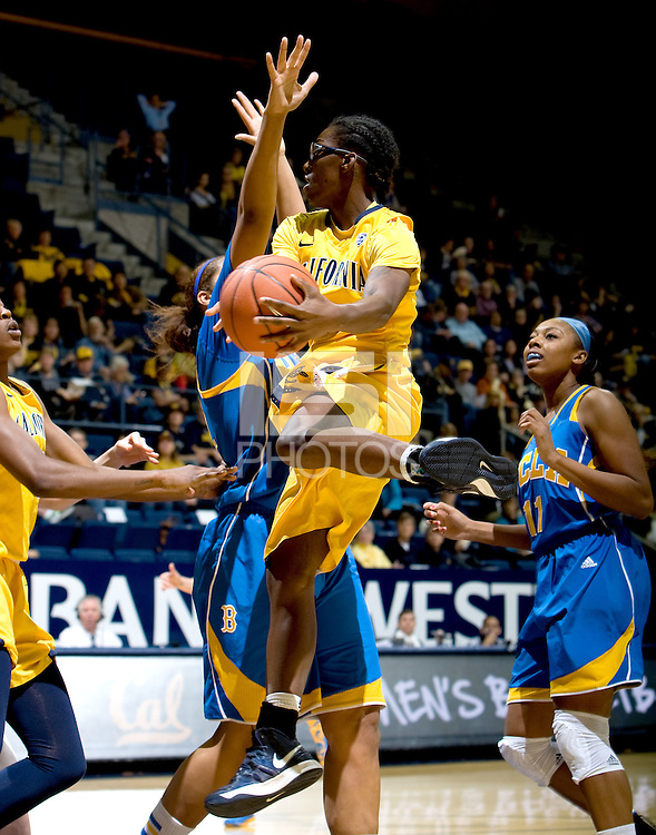 Eliza Pierre of California in action during the game against UCLA at Haas Pavilion in Berkeley, California on January 20th, 2013.   California defeated UCLA, 70-65.