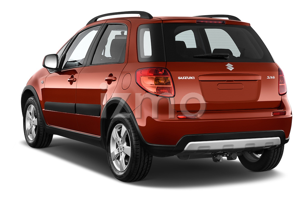 Car pictures of rear three quarter view of a 2013 Suzuki SX4 Grand Luxe Exterior 5 Door SUV 2WD Angular Rear