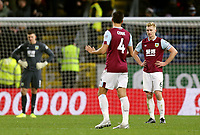 Burnley's Jack Cork and Ben Mee looks dejected after Crystal Palace's Jeffrey Schlupp scored his sides second goal<br /> <br /> Photographer Rich Linley/CameraSport<br /> <br /> The Premier League - Burnley v Crystal Palace - Saturday 30th November 2019 - Turf Moor - Burnley<br /> <br /> World Copyright © 2019 CameraSport. All rights reserved. 43 Linden Ave. Countesthorpe. Leicester. England. LE8 5PG - Tel: +44 (0) 116 277 4147 - admin@camerasport.com - www.camerasport.com