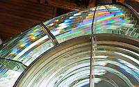 Utö's lens prisms radiate the full spectrum at the island lighthouse, Utö, Finland.