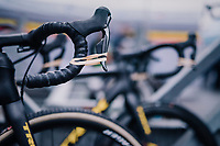keeping the brakes on...<br /> Thibau Nys' (BEL) bike being kept race-ready<br /> <br /> Men&rsquo;s Junior race<br /> <br /> UCI 2019 Cyclocross World Championships<br /> Bogense / Denmark<br /> <br /> &copy;kramon