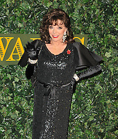 Dame Joan Collins at the London Evening Standard Theatre Awards 2016, The Old Vic, The Cut, London, England, UK, on Sunday 13 November 2016. <br /> CAP/CAN<br /> &copy;CAN/Capital Pictures /MediaPunch ***NORTH AND SOUTH AMERICAS ONLY***