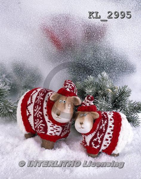 Interlitho, CHRISTMAS ANIMALS, WEIHNACHTEN TIERE, NAVIDAD ANIMALES, photos+++++,2 wooden sheeps,snow,KL2995,#XA#