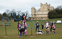 08 MAR 2015 - NOTTINGHAM, GBR - Players from Loughborough Longshots and Radcliffe Chimeras battle for a place in the 2015 British Quidditch Cup final at Woollaton Hall and Deer Park in Nottingham, Great Britain (PHOTO COPYRIGHT © 2015 NIGEL FARROW, ALL RIGHTS RESERVED)