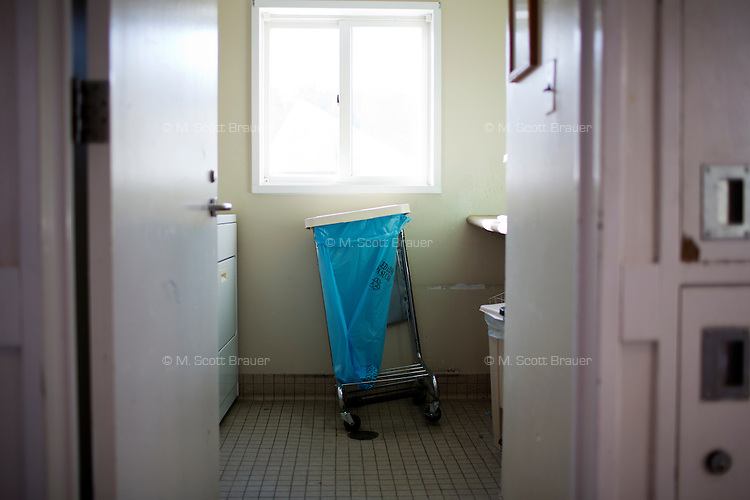 The laundry room in one of the residences in Malone Park at the Fernald Developmental Center in Waltham, Massachusetts, USA.