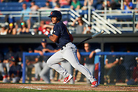 State College Spikes right fielder Ricardo Bautista (12) at bat during a game against the Batavia Muckdogs on June 24, 2016 at Dwyer Stadium in Batavia, New York.  State College defeated Batavia 10-3.  (Mike Janes/Four Seam Images)