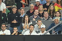 January 27, 2017: Rafael Nadal of Spain's player box reacts in a semifinals match against Grigor Dimitrov of Bulgaria on day 12 of the 2017 Australian Open Grand Slam tennis tournament in Melbourne, Australia. Photo Sydney Low