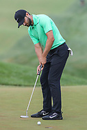 Bethesda, MD - July 2, 2017: Kyle Stanley makes his putt to win the final round of professional play at the Quicken Loans National Tournament at TPC Potomac  in Bethesda, MD, July 2, 2017.  (Photo by Elliott Brown/Media Images International)