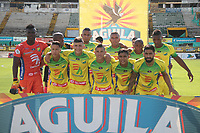 NEIVA- COLOMBIA, 06-10-2018:Formación del Atletico Huila contra Alianza Petrolera   durante partido por la fecha 13 de la Liga Águila II 2018 jugado en el estadio Guillermo Plazas Alcid de la ciudad de Neiva. / Team of Atletico Huila  agaisnt  Alianza Petrolera during the match for the date 13 of the Liga Aguila II 2018 played at the Guillermo Plazas Alcid Stadium in Neiva  city. Photo: VizzorImage / Sergio Reyes / Contribuidor.
