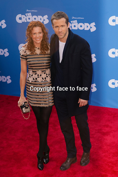 Robyn Lively, Ryan Reynolds at the premiere of The Croods at AMC Loews Lincoln Square on March 10, 2013 in New York City...Credit: MediaPunch/face to face..- Germany, Austria, Switzerland, Eastern Europe, Australia, UK, USA, Taiwan, Singapore, China, Malaysia and Thailand rights only -